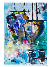 Premiumposter  coloured Boats - Diana Linsse