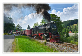 Premiumposter Harz Locomotive