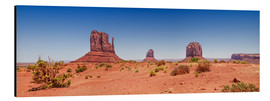 Aluminiumtavla  Monument Valley USA Panorama I - Melanie Viola