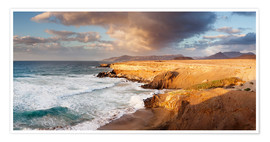 Premiumposter  Coast at sunset, Fuerteventura - Markus Lange