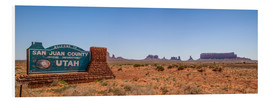 PVC-tavla  Monument Valley USA Panorama III - Melanie Viola
