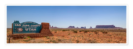 Premiumposter  Monument Valley USA Panorama III - Melanie Viola