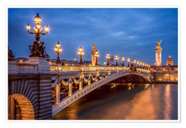 Premiumposter Pont Alexandre III in Paris