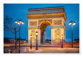 Premiumposter  Arc de Triomphe in Paris - Jan Christopher Becke