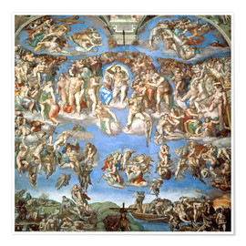 Poster  The Last Judgement - Michelangelo