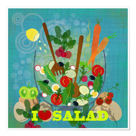 Premiumposter I love Salad