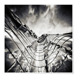 Premiumposter Gehry Duesseldorf | 03 (monochrome)