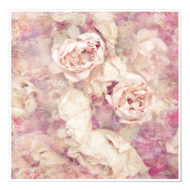 Premiumposter Faded roses