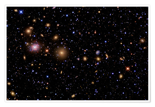 Premiumposter The Perseus Galaxy Cluster