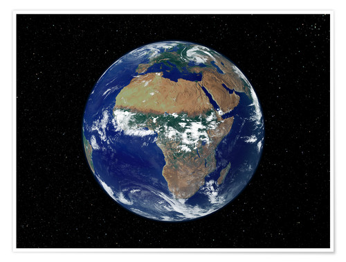 Premiumposter Earth - Africa and Europe