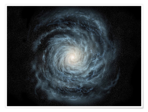 Premiumposter face-on view of the Milky Way