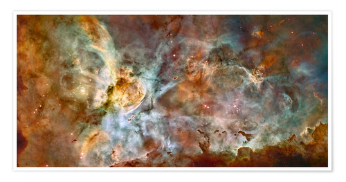Premiumposter The central region of the Carina Nebula
