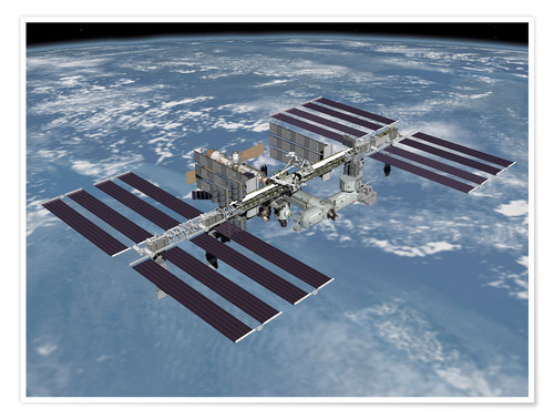 Premiumposter International space station ISS