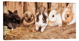 Canvastavla  bunnys - Photoplace Creative