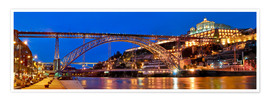 Premiumposter Porto Portugal, bridge Dom Luis