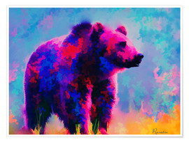 Premiumposter Grizzly Bear