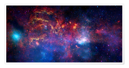 Premiumposter central region of the Milky Way galaxy