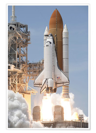 Premiumposter Atlantis Space shuttle