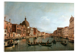 Akrylglastavla  Venice, The Grand Canal with Simeone Piccolo - Antonio Canaletto