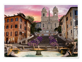 Premiumposter  Piazza Di Spagna with the Spanish Steps - Dominic Davison