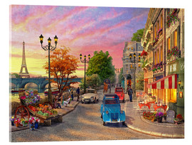Akrylglastavla  Sunset on the Seine - Dominic Davison