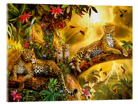 Akrylglastavla  Jungle Jaguars - Jan Patrik Krasny