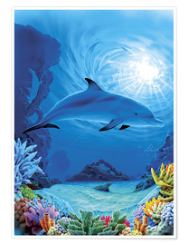 Premiumposter  Camouflage dolphins - Robin Koni