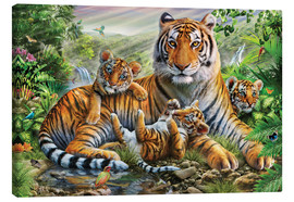 Canvastavla  Tiger and Cubs - Adrian Chesterman