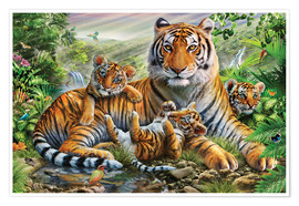 Premiumposter  Tiger and Cubs - Adrian Chesterman
