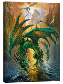 Canvastavla  Dragon of the lake - Dragon Chronicles