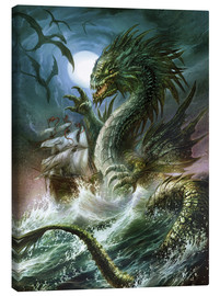 Canvastavla  The sea serpent - Dragon Chronicles