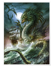 Premiumposter  The sea serpent - Dragon Chronicles