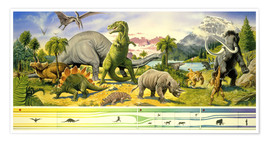 Premiumposter  Land of the dinosaurs - Paul Simmons