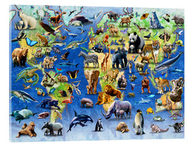 Akrylglastavla  One Hundred Endangered Species - Adrian Chesterman