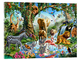 Akrylglastavla  The paradise of animals - Adrian Chesterman