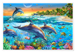 Premiumposter  Dolphin bay - Adrian Chesterman