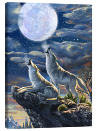 Canvastavla  Midnight Wolves - Adrian Chesterman