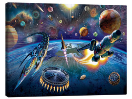 Canvastavla  Outer Space - Adrian Chesterman