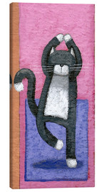 Canvastavla  Yoga for Cats - Peter Adderley