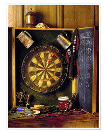 Premiumposter  Darts board - Simon Kayne