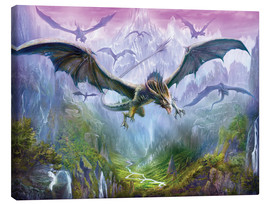 Canvastavla  The Valley Of Dragons - Dragon Chronicles