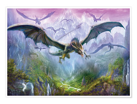 Premiumposter  The Valley Of Dragons - Dragon Chronicles