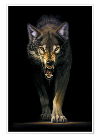 Premiumposter  Stalking wolf - Chris Hiett