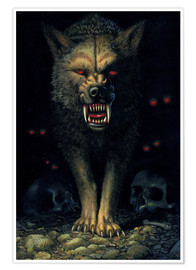 Premiumposter Demon wolf
