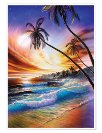 Premiumposter Tropical beach