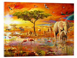 Akrylglastavla  Savanna Pool - Adrian Chesterman