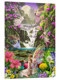 PVC-tavla  Waterfall fairies - Garry Walton