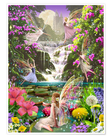 Premiumposter  Waterfall fairies - Garry Walton