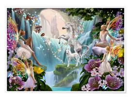 Poster  Unicorn waterfall - Garry Walton