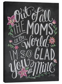 Canvastavla  The best mom of the world - Lily & Val